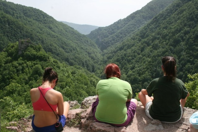 On our first day, we hiked to Bobovac. The view while recovering