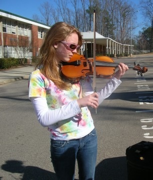 In case you didn't believe it, me and my violin circa 2006