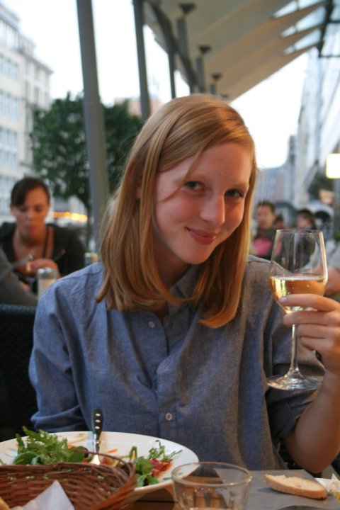 2010, with wine in Hamburg
