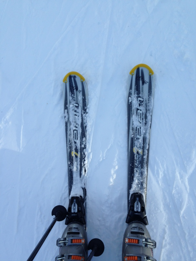 Rental skis, boots, and poles