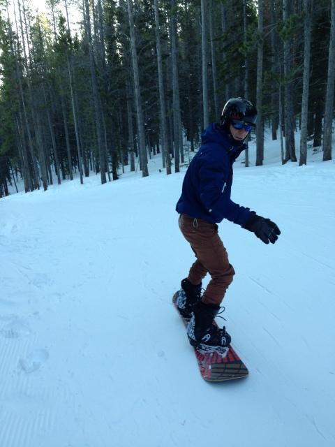 Matt enjoying the bunny slopes