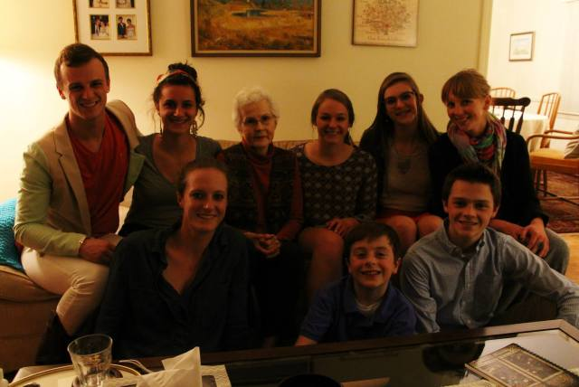 My siblings, cousins, and Oma this spring