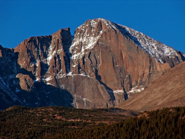 Majestic Longs Peak, photo from Wikipedia