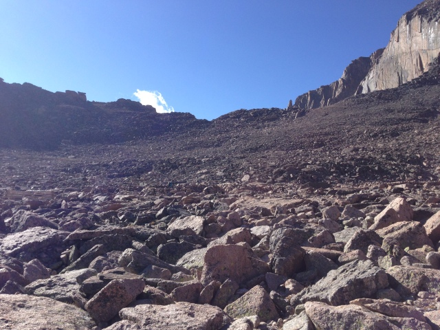 The Boulderfield below Longs Peak, above the tree line