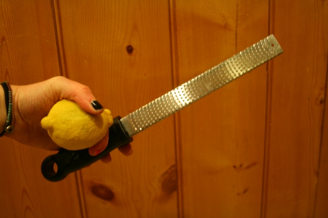 I love this zester that my Aunt Lynn & Uncle Fred gave me for Christmas one year. It is great for zesting lemons!
