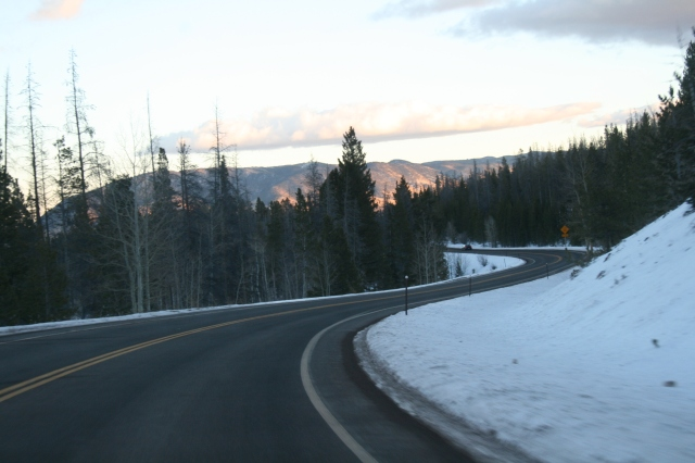 The road between Laramie and the ski area