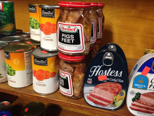 Mmm nothing like a fresh jar of pig foot