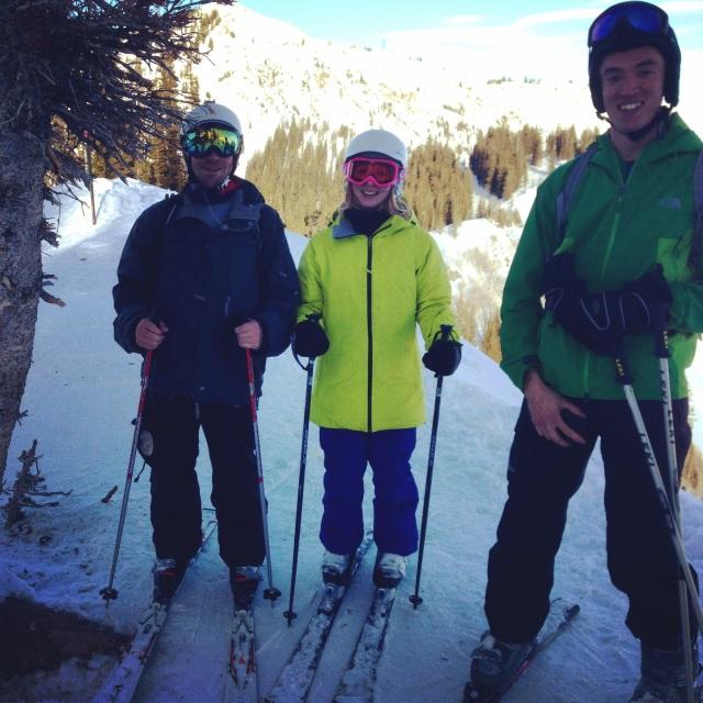 Dylan, me, and Kevin at Brighton Ski Resort