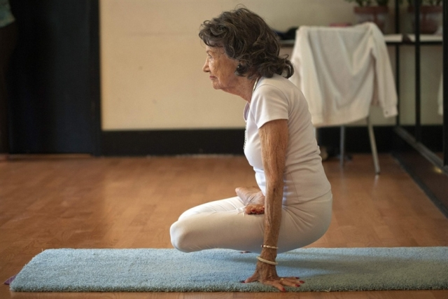 Oh yeah? Try this, you young farts! At 93, Tao Porchon-Lynch is the world's oldest yoga teacher (Image from http://photoblog.nbcnews.com)