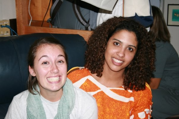 Two beautiful friends visiting me in my freshman dorm