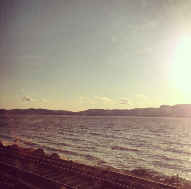 Train ride up the Hudson River