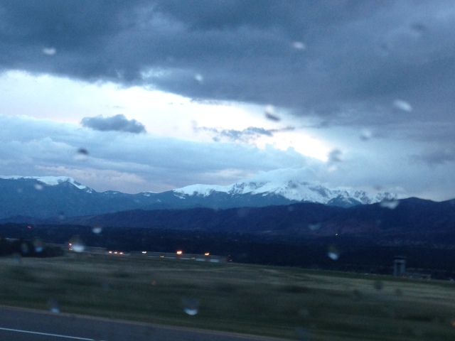 A view of Colorado Springs from the highway. Photo by yours truly