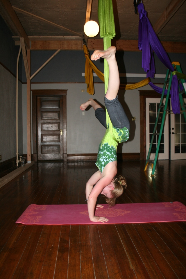Wide-legged back straddle, a great way to come into inversions