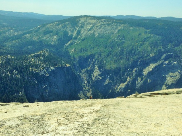 Tiny me, big Half Dome
