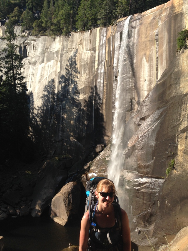 Nevada Falls, one of the waterfalls (with water still flowing) we passed on the way up to and down from Half Dome