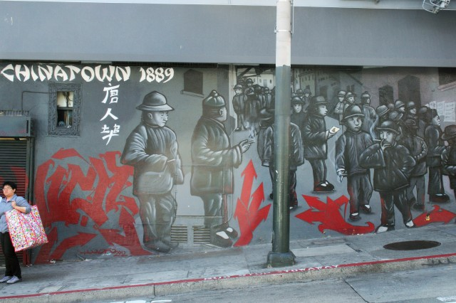 One of many murals in San Francisco's Chinatown